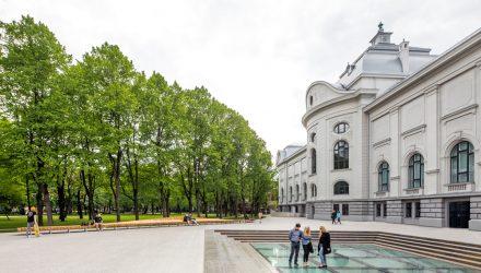 """Latvijos nacionalinis muziejus Rygoje; arch. """"Processoffice"""", """"Andrius Skiezgelas Architecture"""""""