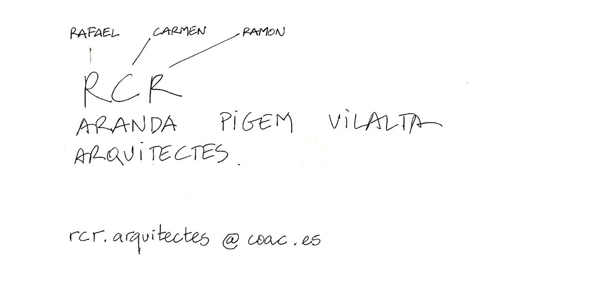 """""""RCR Arquitectes"""" autografas PILOTAS.LT redakcijai"""