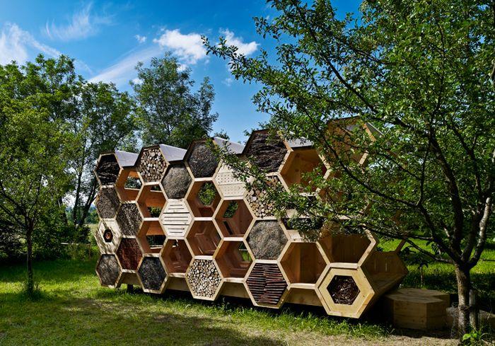 """Bičių paviljonas Prancūzijoje, arch. """"AtelierD"""", foto: S.Spach"""