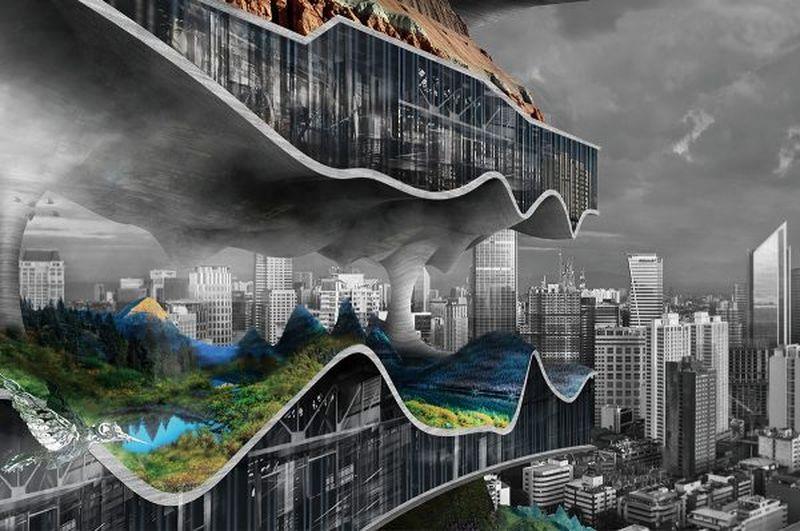 """""""Vertikalūs fabrikai megamiestuose"""", Tianshu Liu ir Linshen Xie, 2-oji vieta"""