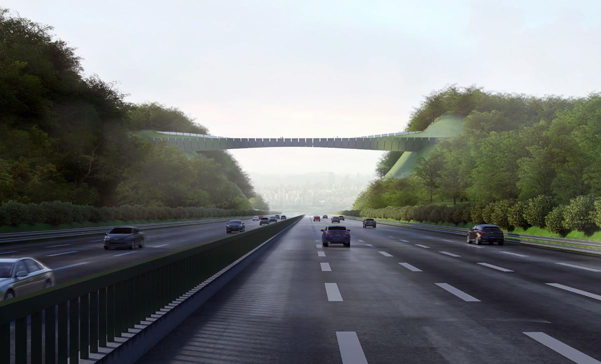 """Tarptautinį architektūrinį konkursą laimėjo grupės KILD projektas """"Eko tiltas""""."""