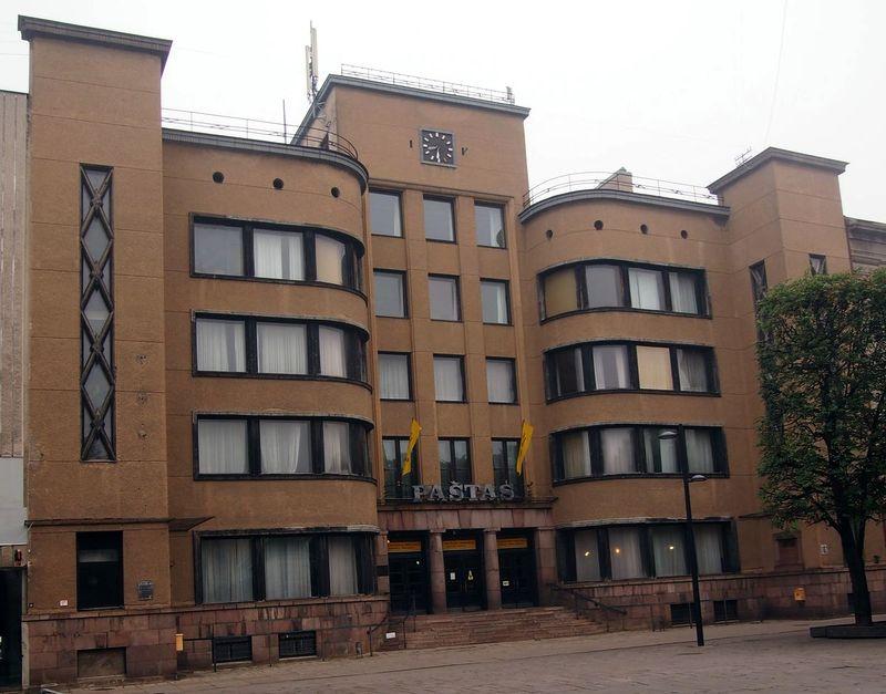 Kauno centrinis paštas, arch. F.Vizbaras. Foto: ©PILOTAS.LT