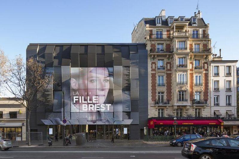 """Alesia Cinemas"" Paryžiuje, arch. M.Gautrand, 2016. Foto: Luc Boegly"