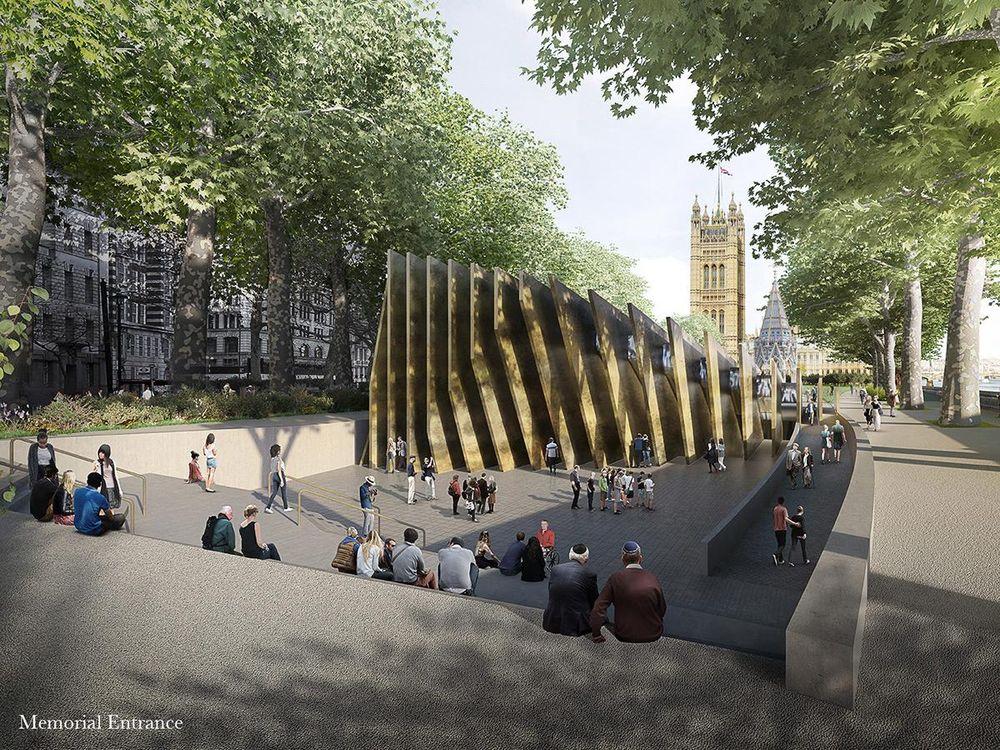 "Jungtinės Karalystės Holokausto memorialas, arch. ""Adjaye Associates"" ir ""Ron Arad Architects"", 1-oji vieta"