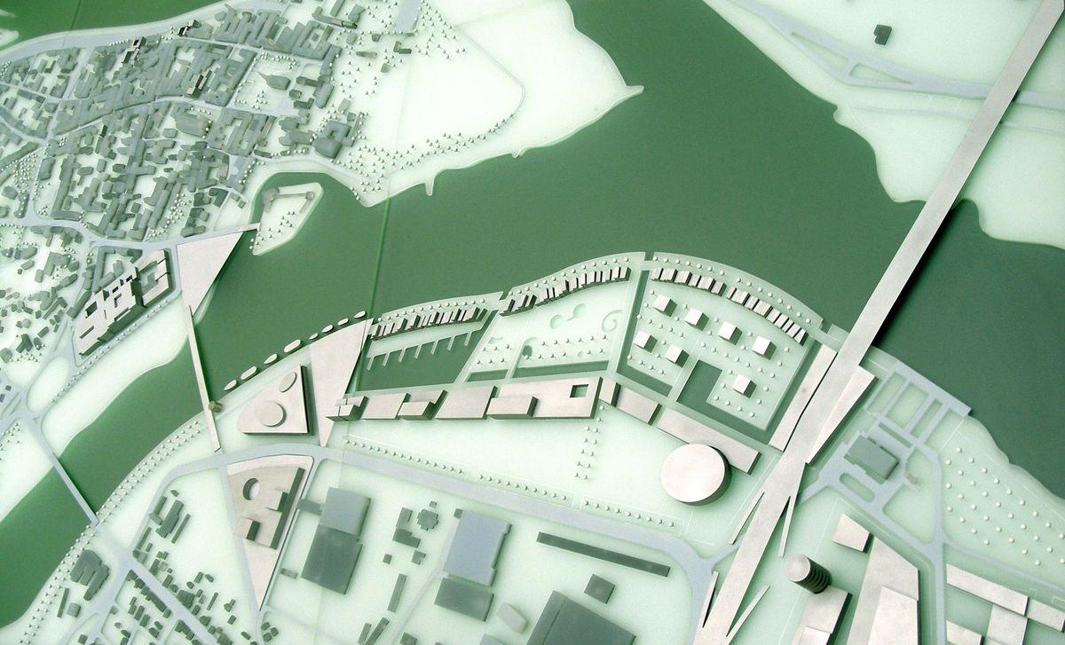"""""""Naujo kranto"""" urbanistinė koncepcija, Kaunas, Vilijampolė (2004)"""