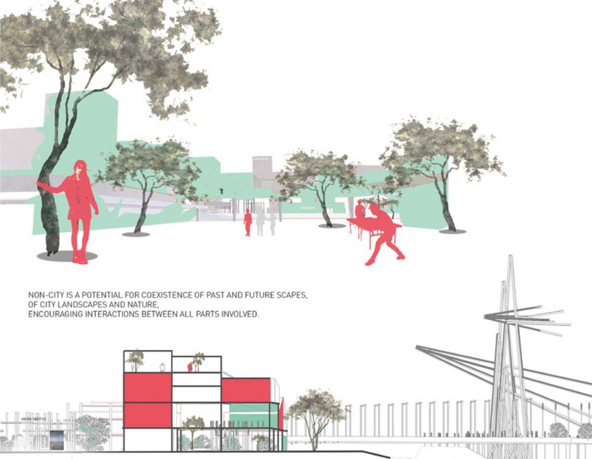 """""""Ne-miestas""""- ateities miestovaizdis šiaurinėje Talino dalyje""""; M.Tannenberg (Estija), bakalauro darbas"""