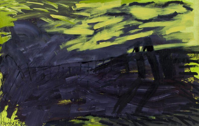 Vakarai Ventės rage, R. Jankauskas-Kampas, 1993; Nacionalinio M. K. Čiurlionio dailės muziejaus nuosavybė.