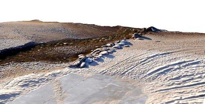 Baltijos jūros pakrantės reljefo modelio fragmentas ties Melnrage-2