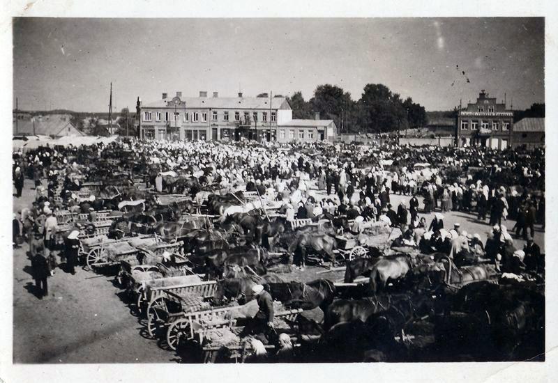 Alytaus turgus, 1933 m. Nuotrauka: Alytaus kraštotyros muziejus.