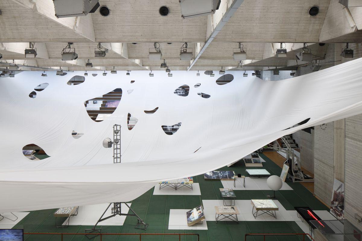 Baltijos šalių paviljono interjeras. Venecijos bienalė, 2016. (foto: projekto autorių)