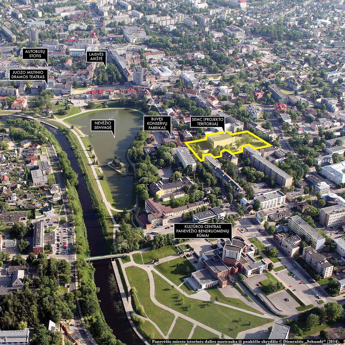 """Stasio Eidrigevičiaus Menų centras įsikurs vietoje milžiniško kino teatro """"Garsas"""". Foto: Panevėžio savivaldybė."""