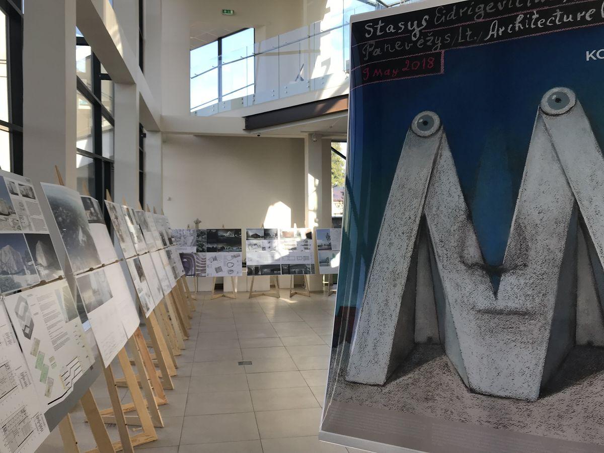 Konkursinių projektų ekspozicija Panevėžio miesto galerijoje. Foto: Panevėžio savivaldybė.