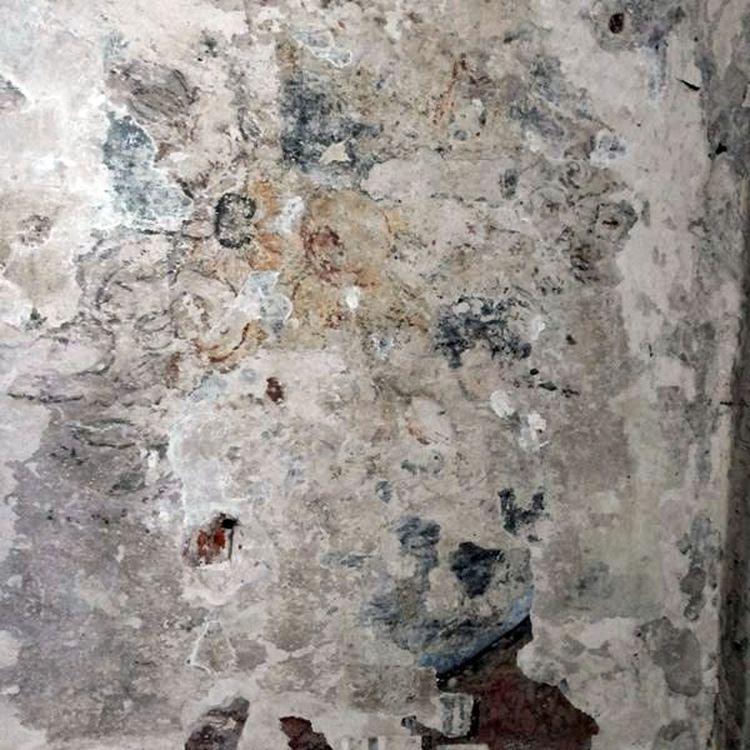 Šv. Jurgio Kankinio bažnyčios senojoje zakristijoje atidengta XVI amžiaus pabaigos sieninė tapyba Foto: A.Naureckaitė