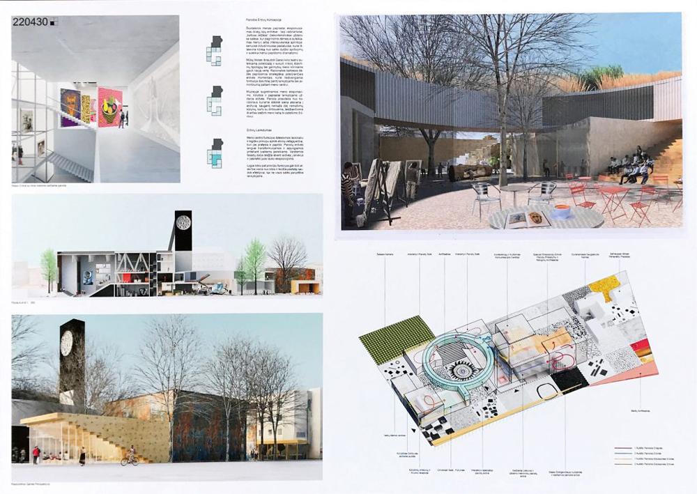 """Trečia vieta: projektas 220430. Architektai: Gabrielė Ubarevičiūtė, Giedrius Mamavičius ir UAB """"Siena"""""""