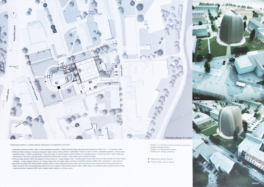 """Projektas 303135. Architektai (neoficiali informacija): UAB """"Ademo grupė"""" ir UAB """"RA studija"""""""