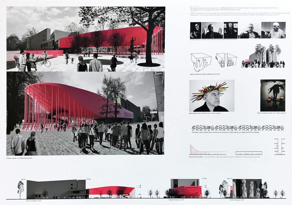 """Projektas 111312. Architektai (neoficiali informacija): UAB """"Dviejų grupė"""" su Linu Tuleikiu, Kęstučiu Vaikšnoru, Jurgita Šniepiene, Kristijonu Murausku"""