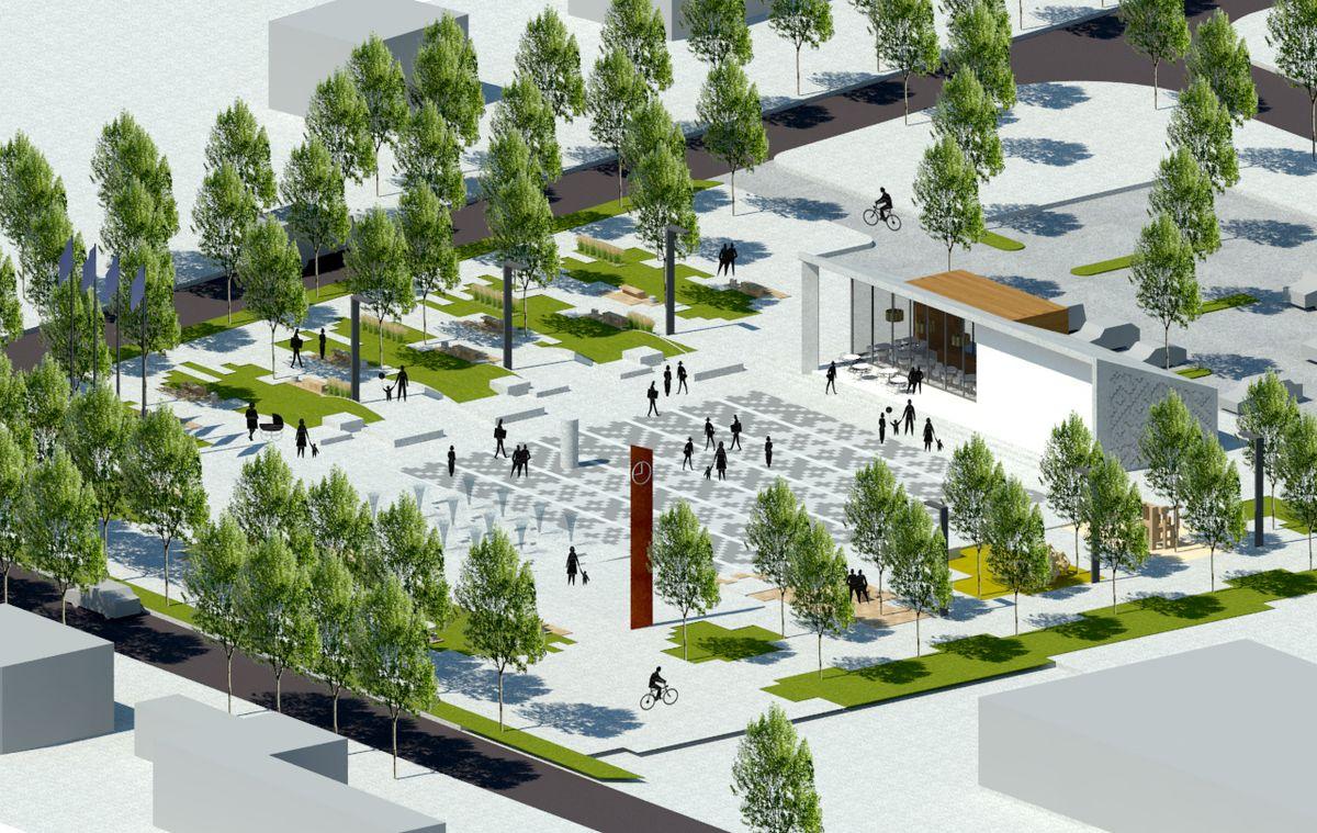 """Šventosios centrinės aikštės rekonstrukcija (arch. M.Daukšys – """"Nemuno deltos projektai"""")"""