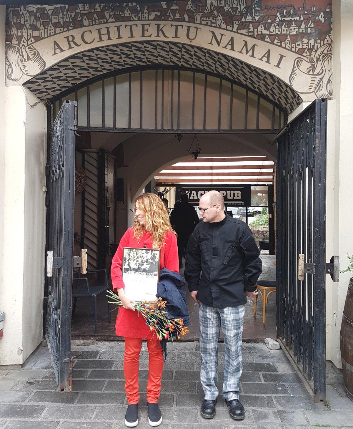 """Kauno architektūros titulu """"Metų architektas 2018"""" Gustė Kančaitė įvertinta, nesulaukusi nė 40-ties. Foto: T.Petreikis ir A.Karalius"""