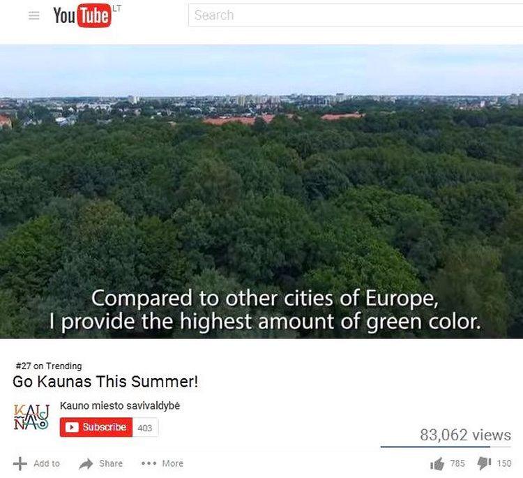 Tarptautinėje erdvėje Kauno savivaldybė vis dar pristato miestą, kaip išskirtinai žalią...