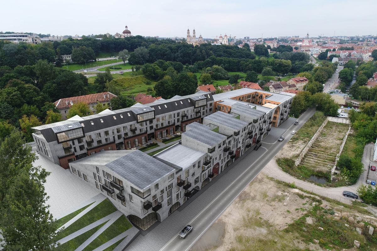 """Baigiamas rengti gyvenamojo kvartalo """"Paupys"""", buvusios """"Skaiteks"""" gamyklos teritorijoje (Vilnius) projektas. Architektai: Gustė Kančaitė, Ieva Bielinskytė, Kęstutis Kajokas, Linas Ulickas"""