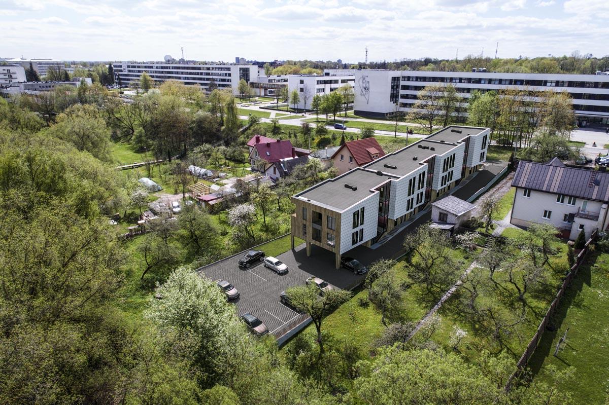 Pradėta daugiabučio Studentų g.53 (Kaunas) statyba. Architektės: Gustė Kančaitė, Ieva Bielinskytė