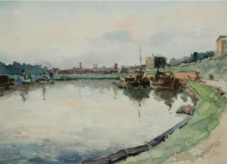 """""""Uostas prie K armelitų"""", J.Buračas (1898–1977)"""