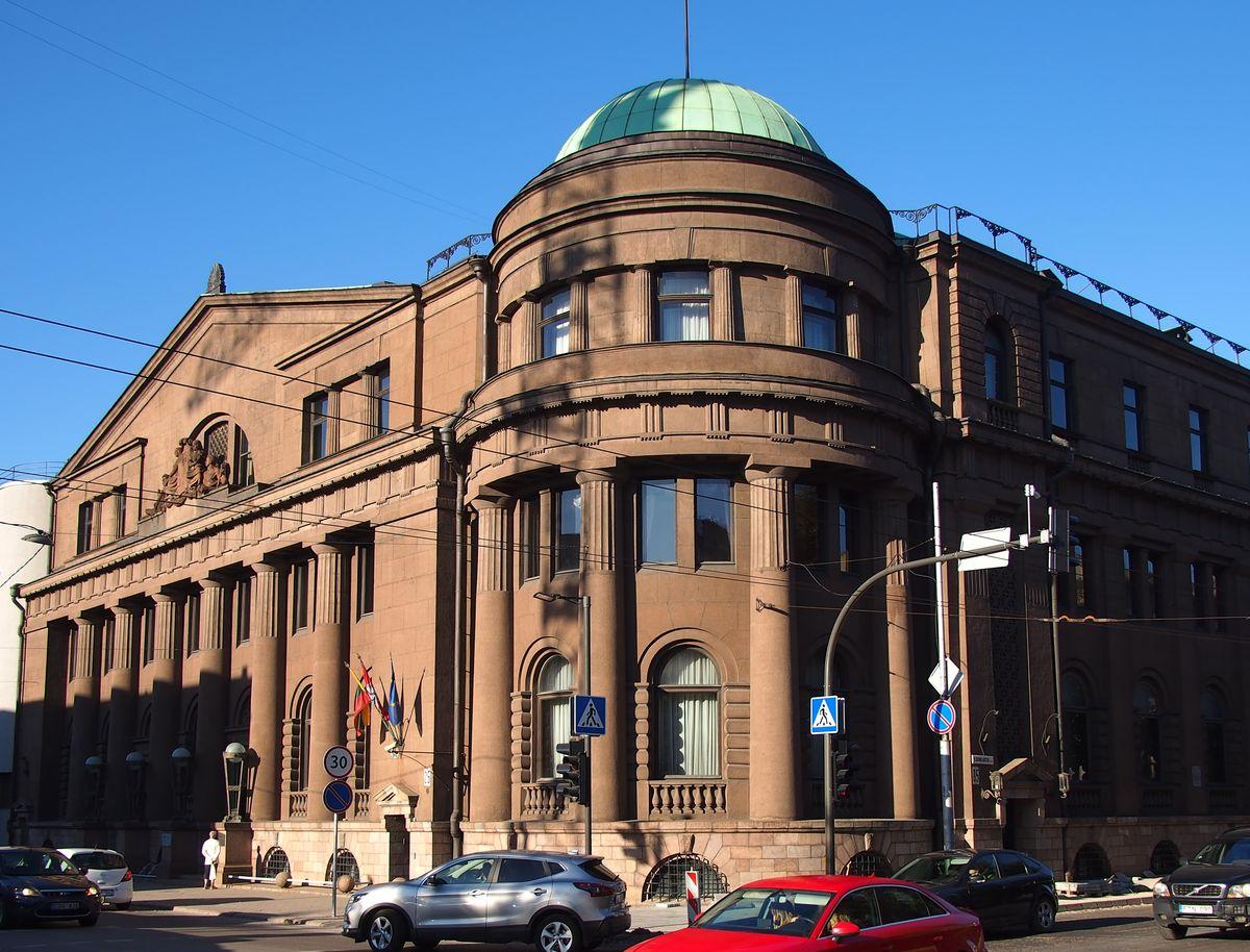 Lietuvos banko pastatas (arch. M.Songaila, inž. F.Vizbaras; 1929 m.) laikomas vienu solidžiausių tarpukario architektūros objektų Lietuvoje. Foto: ©PILOTAS.LT.