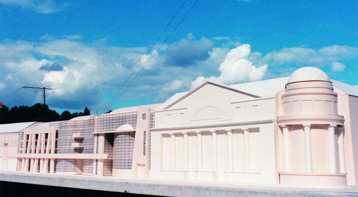 Administracinių pastatų grupės Maironio g. projekto konkursinis projektas (arch. G.Natkevičius, V.Kuliešius; 1992 m.; 1-oji vieta). Foto: G.Natkevičius