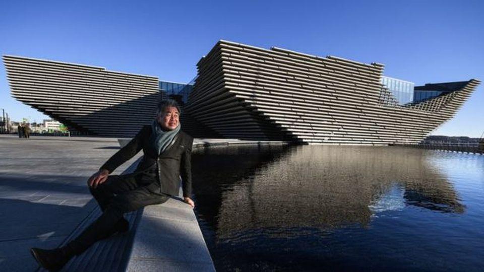 Japonų architektas Kengo Kuma prie savo naujausio kūrinio