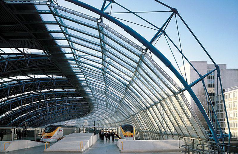 Londono Waterloo stoties Tarptautinis terminalas (arch. N.Grimshow). Foto: Jo Reid ir John Peck