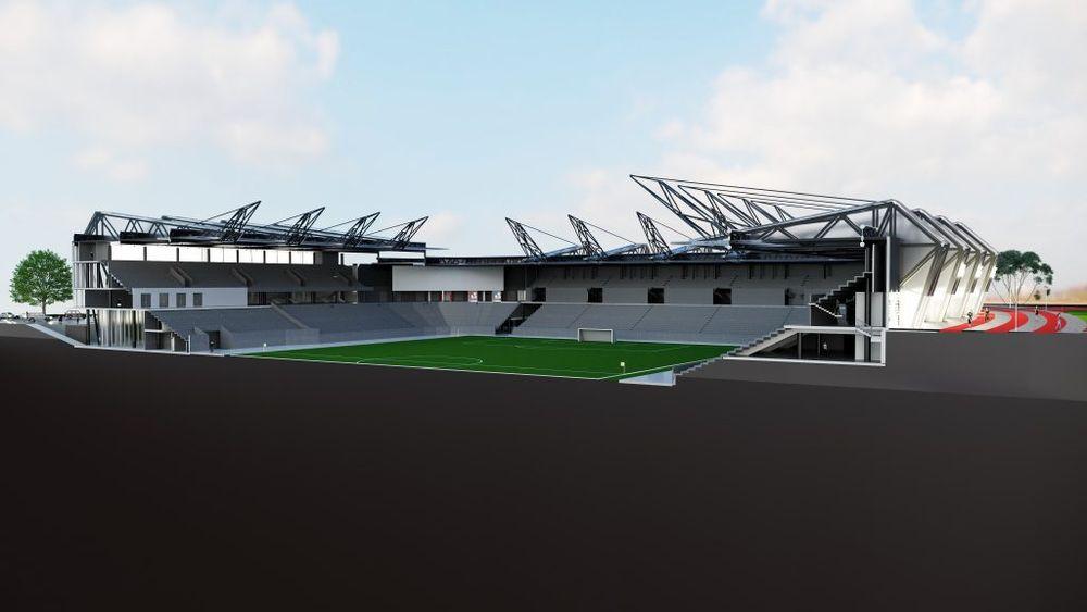 """""""Axis Industries"""" stadionas. Pav.: Vilniaus savivaldybė"""