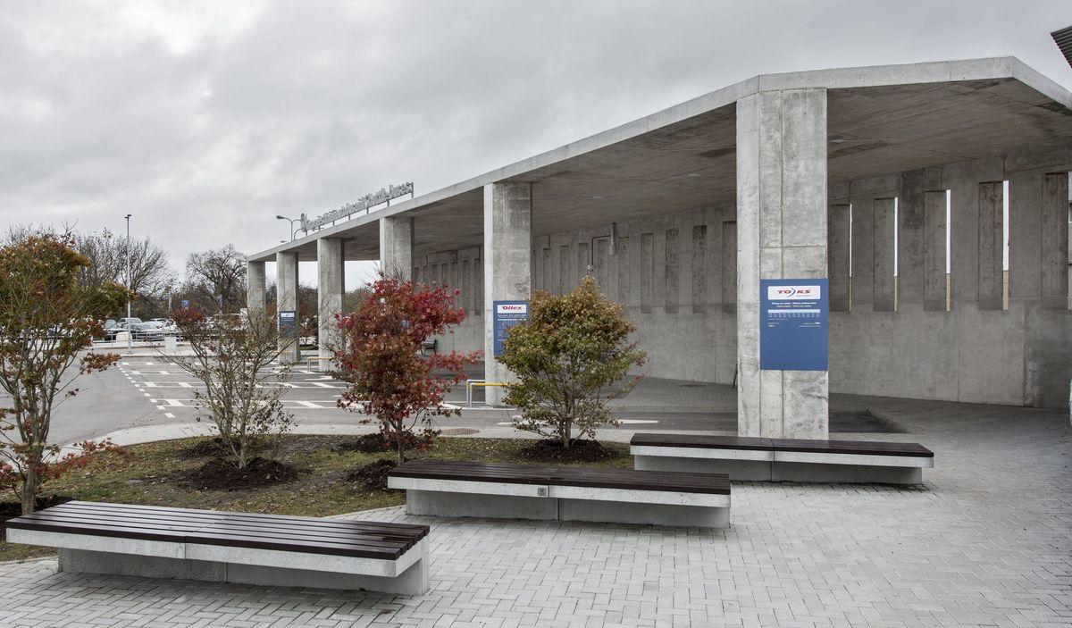 """Vilniaus architektūros studija"": Autobusų stotis Vilniaus oro uoste. Architektas: Tomas Noreika. (Foto: iš studijos archyvo)."