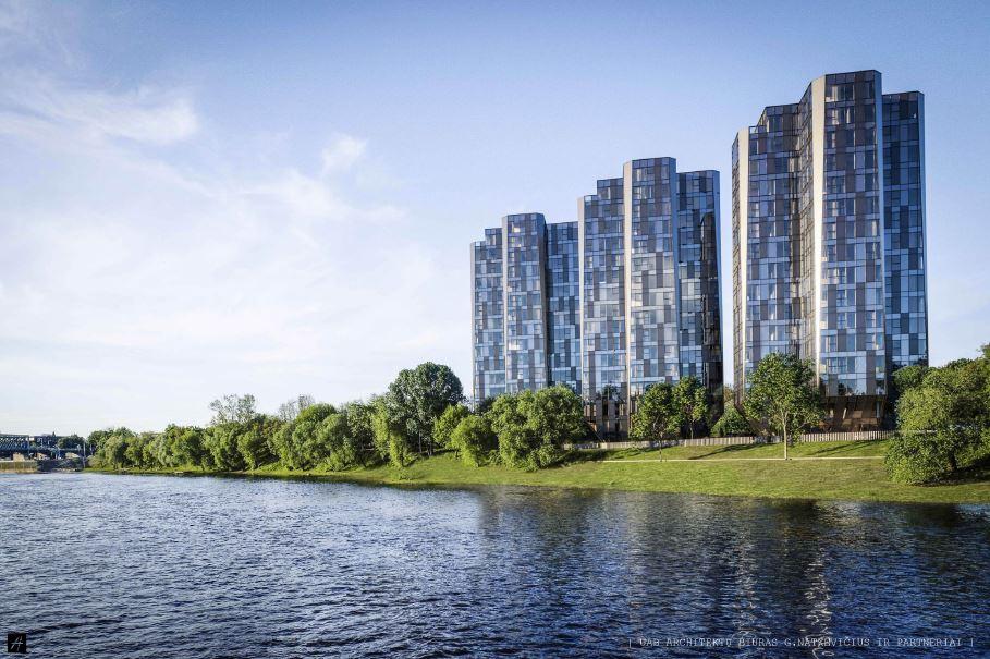 Architekto G.Natkevičiaus trijų dangoraižių projektą Žemuosiuose Šančiuose Kauno RAT sukritikavo už konfliktišką architektūrą konteksto atžvilgiu