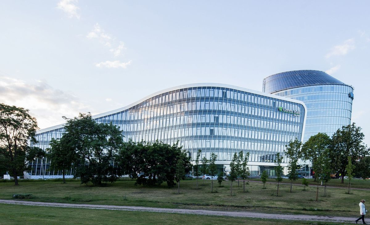 """""""Archinova"""" ir """"Arrow Architects"""" (Danija): Verslo centras """"Green Hall 2"""" Žvėryne (Vilnius). Architektai: Antanas Gvildys, Edimtas Šimeliūnas, Ulrik Raysse, Ricardo Paternina. (Foto: Norbert Tukaj)."""