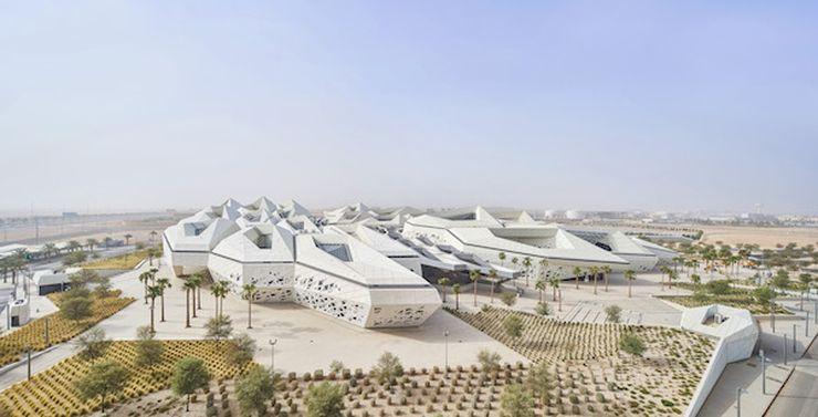 """Karaliaus Abdullah Petroleum mokslo ir tyrimų centras (KAPSARC), arch. """"Zaha Hadid Architects"""" Saudo Arabijoje. Foto: """"Hufton+Crow"""""""