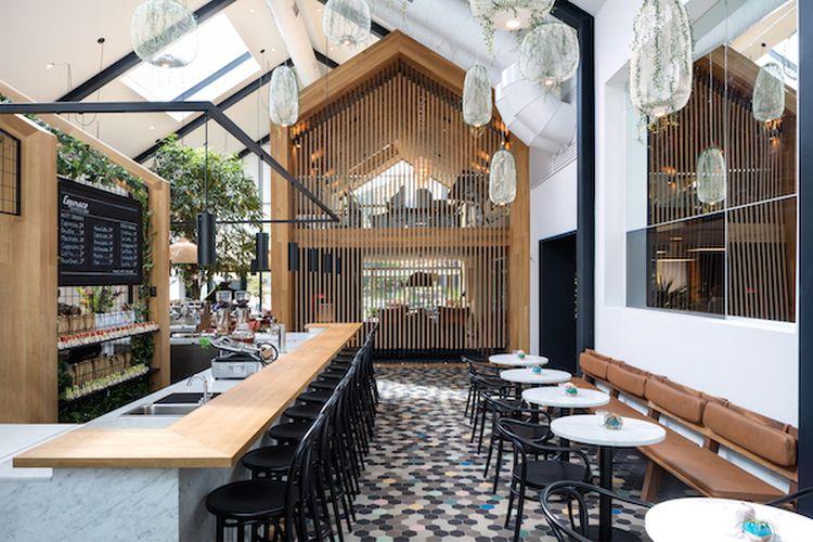 """Harisono kavinė """"Harrison Urby – Entrance Café"""" (arch. """"Concrete""""). Foto: """"Concrete"""""""