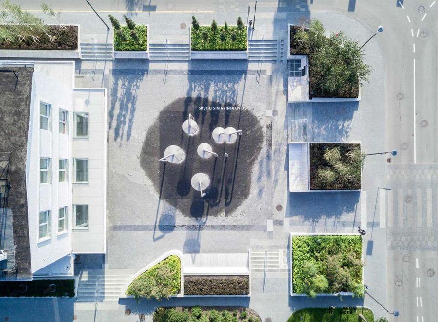 """""""Ogmios miesto"""" viešųjų erdvių urbanistinė transformacija (arch. A.Neniškis, A.Baldišiūtė, V.Šimoliūnaitė ir G.Aismontas. Foto: """"DO architects"""""""