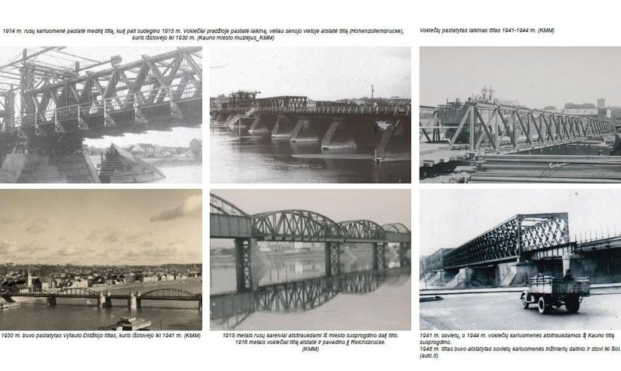 Projekto autoriai atliko Kauno tiltų istorinę analizę