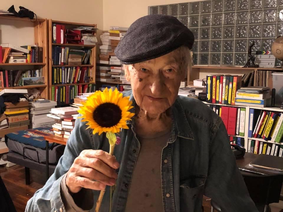 J.Mekas net 70 metų gyveno ir dirbo Niujorko Bruklino rajone įrengtoje studijoje. Foto: PILOTAS.LT archyvas