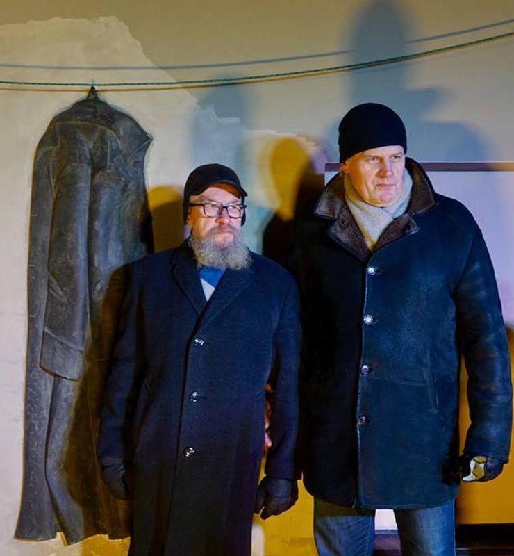 Skulptorius Vytautas Nalivaika ir architektas Algirdas Umbrasas. Foto: Užupio respublika