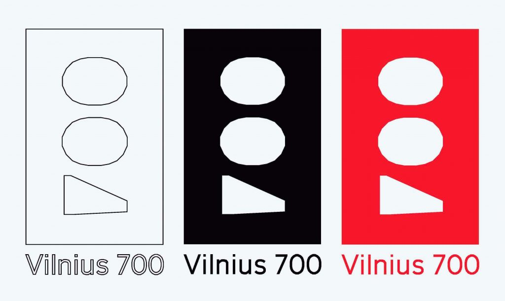 "Logotipas ""Vilnius 700"", diz. E.Grišinas, 1-oji vieta"