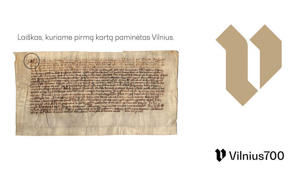 """Logotipas """"Vilnius 700"""", diz. S.Urbonas, 2-oji vieta"""