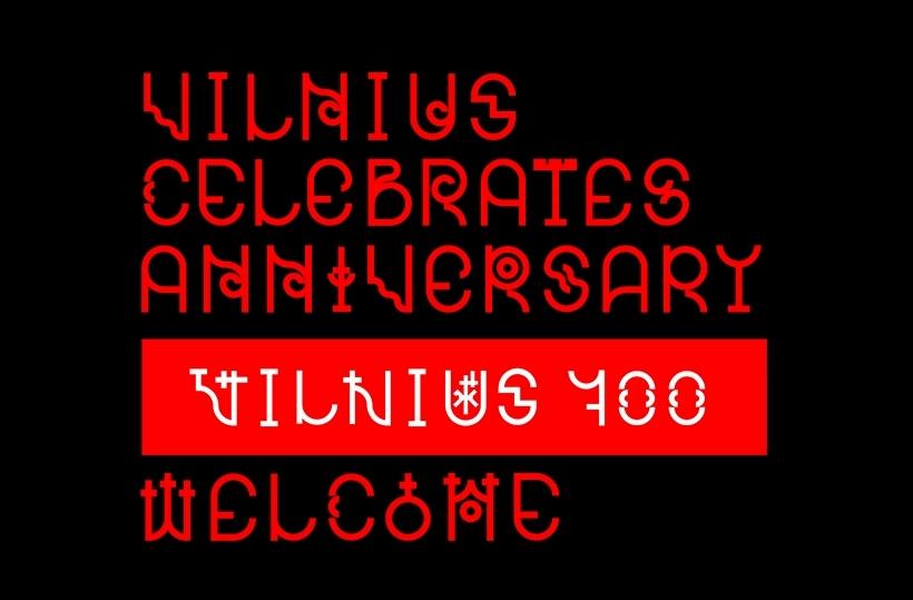 """Logotipas """"Vilnius 700"""", diz. G.Lapėnas, 3-oji vieta"""