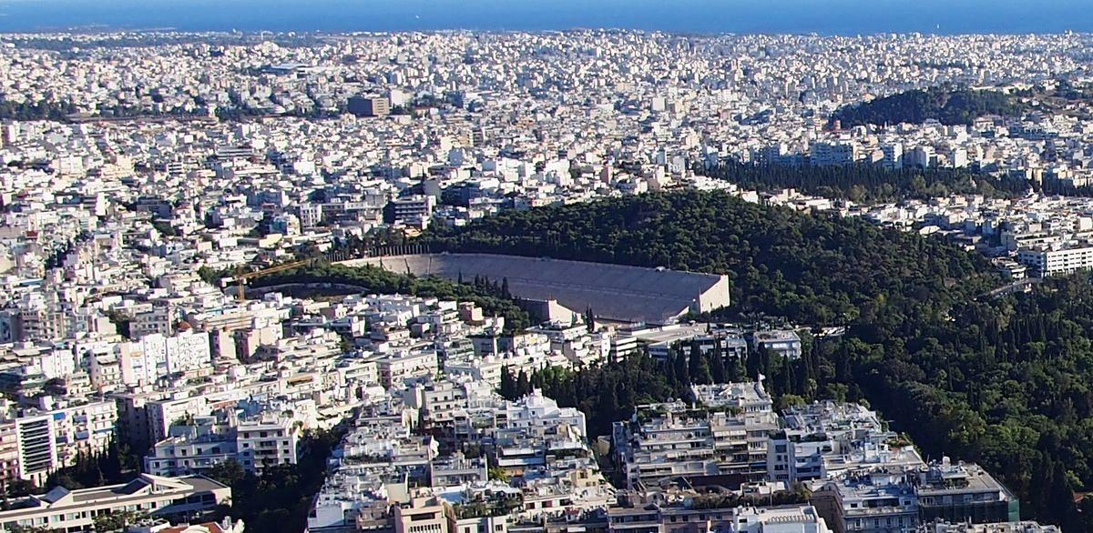 Ilisos upė iš Atėnų požemių išnirs greta garsiojo Panathinaiko stadiono, kur vyko 1896 metų Olimpinės žaidynės. Foto: ©PILOTAS.LT