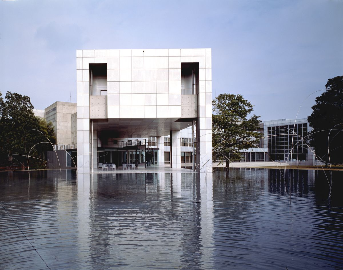 "Gunma modernaus meno muziejus, ach.""Arata Isozaki & Associates"". Foto: Yasuhiro Ishimoto"