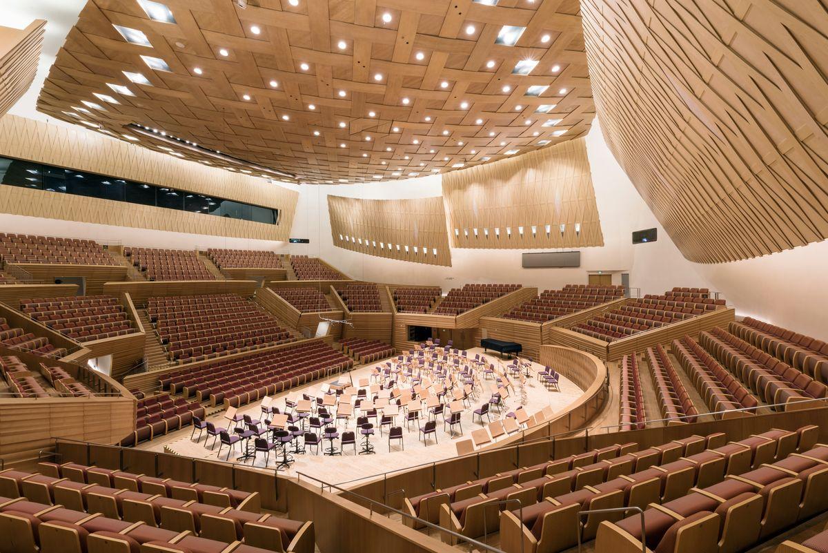 "Šanchajaus koncertų salė, arch. ""Arata Isozaki & Associates"". Foto: Chen Hao"
