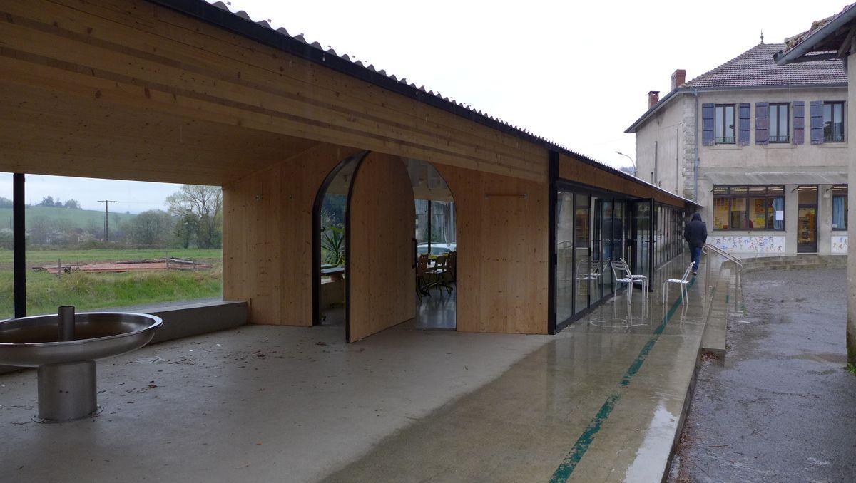 Montbrun-Bocage mokyklėlės valgyklos pristatas (arch. BAST) Foto: Mies van der Rohe fondas