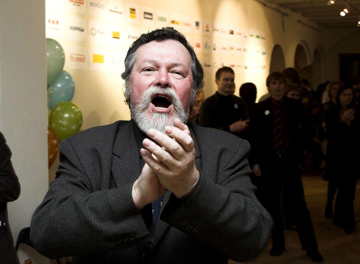 Alfredas Jakučiūnas mėgdavo džiuginti kolegas architektus ryškiu dramatiniu tenoru. Foto: Gintaras Česonis, 2006.
