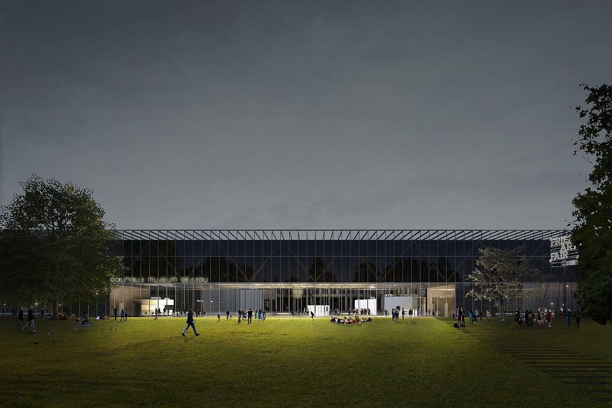 """Dessau bauhauzo muziejus (arch. """"González Hinz Zabala"""")"""