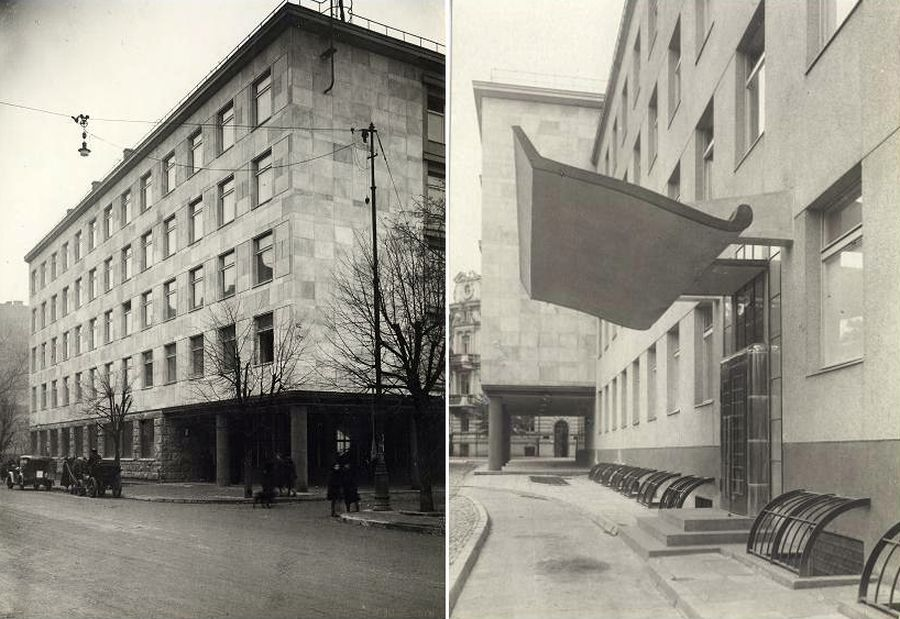 Visuomeninio draudimo rūmai, fotografas Jan Bułhak, 1938-1939 m., Lietuvos mokslų akademijos Vrublevskių biblioteka.